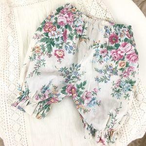 Vintage Floral Baby Girl Bloomers Pants